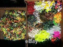 100pc PANFISH ASSORTMENT 1 to 2 SOFT PLASTIC BAITS Crappie Fishing Lures Trout