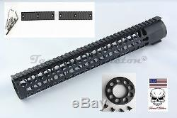 15 Inch Free Float Keymod Handguard Rail System With END CAP 223 556 300 BO