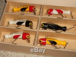 1949 LaMOTHE-STOKES DEALER'S BOX (12) SWIVALURE 3 FISHING LURES-NEWithBOXES