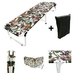 24.5 W Portable Military Cots Fold Up Bed Hiking Fishing Camping+Free Bag-Army