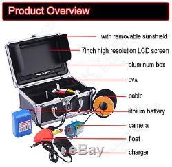 30m Professional Fish Finder Underwater Ice Fishing Camera 7 Color HD Monitor