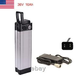 36V 10Ah Fish Lithium Li-ion Battery with Charger for 350W Electric Bicycle E-Bike