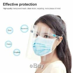 5 Safety Full Face Shield Guard Protector Clear Anti Fog Reusable Helmet US