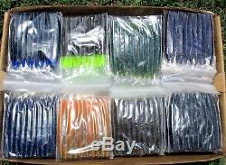 50 count ASSORTMENT 4 SENKOS style Bass Fishing Lures Pro Soft Stickbaits Worms