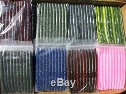 50ct ASSORTMENT 5 SENKOS style Bass Fishing Lures Soft Salty Stickbaits Worms
