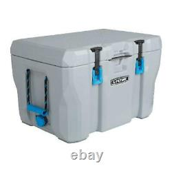55 Quart Cooler 7-Day Ice Retention High Performance Portable Chest Box Gray