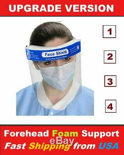 5qty Safety Face Shield Reusable Washable Protection Cover Face Mask Helmet