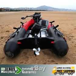9.8'Inflatable Boat Inflatable Rafting Fishing Dinghy Tender Pontoon Boat