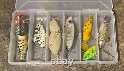 Antique/Vintage Lure lot & Umco 1000S tackle box loaded with lures
