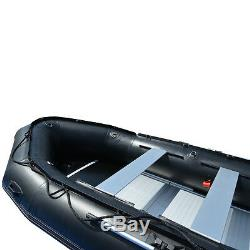 BRIS 15.4 ft Inflatable PVC Boat Inflatable Rescue Fishing Pontoon Boat Dinghy
