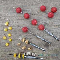 Baiting Needle Tool Set 4 Pc Stainless Steel Carp Fishing Boilie Needles Drill