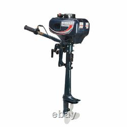 Boat 2-Stroke 3.5HP Outboard Motor Fishing Boat Engine, Water Cooling System
