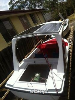 Brand New 4 Person Solar Powered 12.8' Electric Fishing Boat Free Ship by Sea