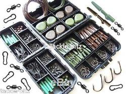 Carp Fishing Terminal End Tackle box set Weights safety clips For Hair Chod Rigs