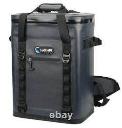 Cascade 36 Can Beer Soft Ice Cooler Hiking Backpack Lunch Fishing Bag Gray