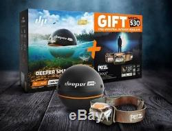 Deeper Pro Plus Fishfinder, Wireless Sonar, Compatible iOS & Android Devices
