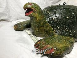 Duluth Fish Decoys, DFD, Perkins WOW! 23 MUSEUM QUALITY TURTLE Spearing Decoy