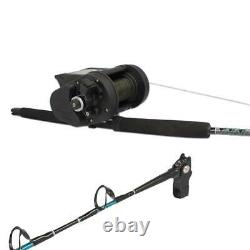Fishing Reel Electric KRISTAL XL638 With Rod Halibut Of Depth