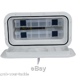Fishing Tackle Box for Boat-Tackle Storage Plano Trays 2 Tray Saltwater Tackle