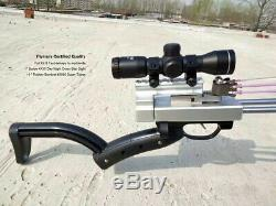 Flymars A Hunting Slingshot Rifle Double Safety Device Deluxe FullKit 4x30 Scope