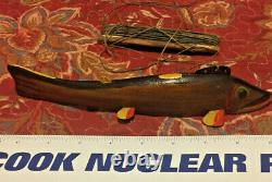 Hard to Find Oscar Peterson 9 Natural side Fish Decoy in Excellent Condition
