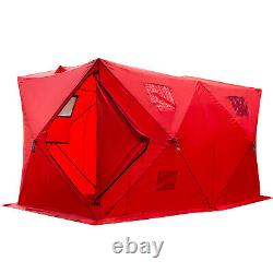Ice Shelter Fishing Tent 8-person Accessories Room Stability Waterproof Red