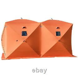 Ice Shelter Fishing Tent 8-person Pop-up Shanty Stability Room Lightweight