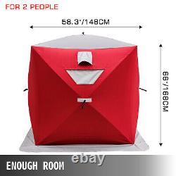 Ice Shelter Fishing Tent Shanty 2-person Pop-up Stability Waterproof with Bag