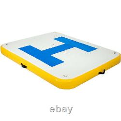 Inflatable Dock Platform, PVC Floating Fishing Dock 6x5 ft with Electric Air Pump