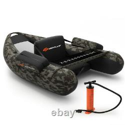 Inflatable Fishing Float Tube withAdjustable Straps Home & Pockets & Fish Ruler