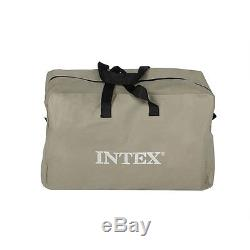 Intex Excursion 5 Inflatable Rafting and Fishing Boat Set with 2 Oars 68325EP