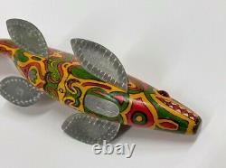 Jay McEvers Totem Pole Decoy 8-1/2 long Fish Spearing Free Shipping