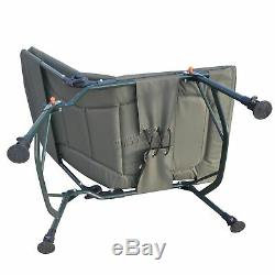 KMS Portable Folding Fishing Chair XL Camping Chair 4 Adjustable Legs