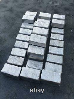 Lead Ingots, 50+ LB Small Clean Lead Casting Bullets, Fishing Weights, Sinkers