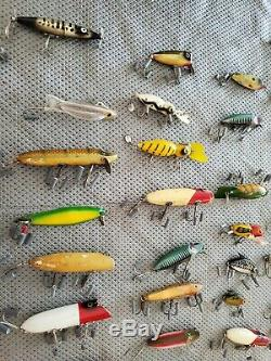 Lot of 50 Vintage Antique Fishing Lures 40+ Years Old