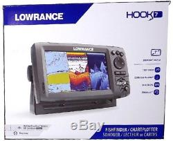 Lowrance Hook 7 CHIRP GPS Fishfinder + DownScan Imaging Transducer