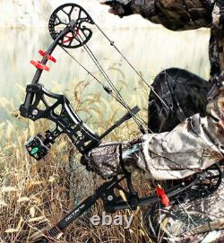 M109E Archery Compound Bow 30-60lbs Steel Ball Fishing Hunting Catapult Dual-use