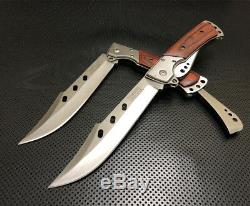 New Large Folding Knife Camping Fishing Outdoor Small Bowie Pocket Bush Extended