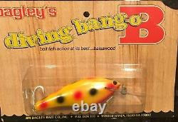 New, Sealed Bagley Db04 Cohoe All Brass! Super Rare Bait! Wow! 10 Rated Color