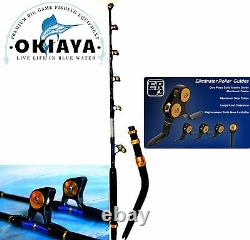 OKIAYA VENOM PRO BENT BUTT FISHING ROD 80-130LB THE MONSTER with PACBAY GUIDES