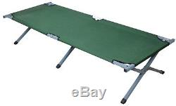 Outdoor Portable Folding Cot Military Hiking Camping Sleeping Bed Fish Full Size
