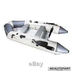 PVC 10.8FT Inflatable Boat Tender Raft with Aluminum Floor Fishing