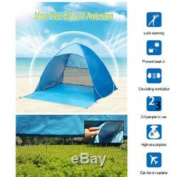 Pop Up Beach Tent Sun Shade Shelter Outdoor Camping Fishing Canopy 23 People