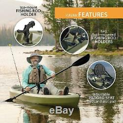 Portable Fishing Kayak Angler 100 Paddle Include Durable Plastic Outdoor Green