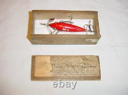 READ Vintage Early PFLUEGER Minnow Fishing Lure & Box Shakespeare or Rhodes RARE