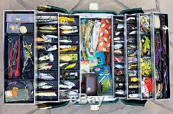 Rare Lures In Loaded tackle Box Vintage (Heddon, Bomber, Cotton Cordell, etc.)