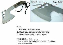 Ultimate Camping Tool, Fishing Axe-Fire Axe-Survival Hand Tool-Kitchen Use-F05. B