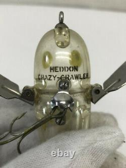 Valuable Fishing Lure HEDDON Crazy Crawler Clear without Dot Used-Good 439/MN