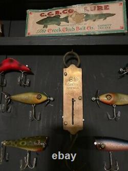 Vintage Lures, Boxes, Bobbers, and Fish Scale in Shadow Bpx