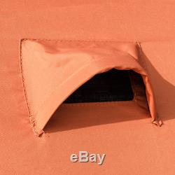 Waterproof Pop-up 8-person Ice Shelter Fishing Tent Shanty Window w Carrying Bag